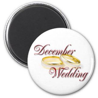DECEMBER WEDDING 2 INCH ROUND MAGNET