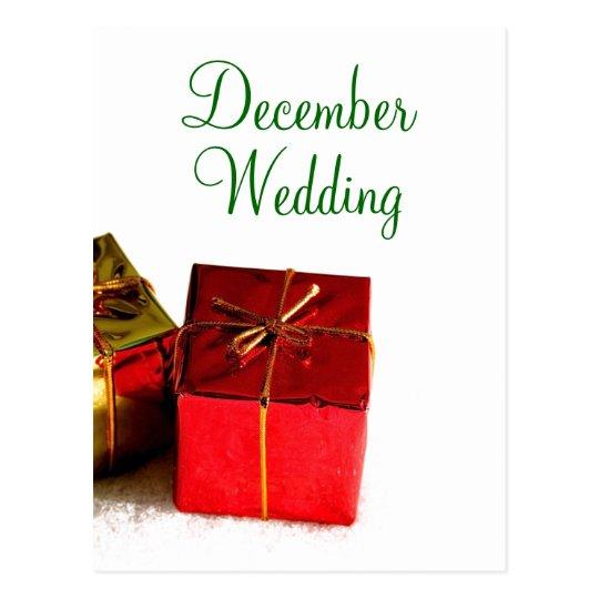 December  Wedding Announcement Postcard