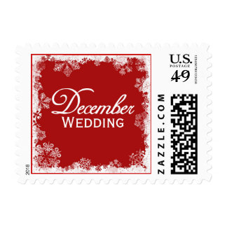 December Wedding Postage