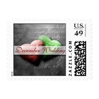 December Wedding Postage Stamp