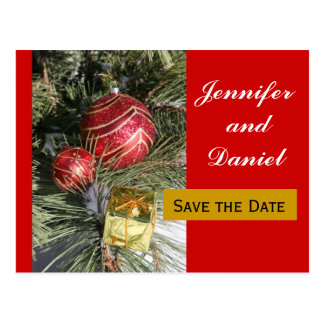 December Wedding Save the Date Announcement Postcard
