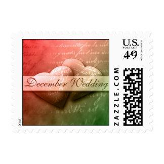 December Wedding Save The Date Postage Stamp