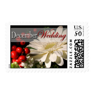 December Wedding Winter Holiday Postage Stamp