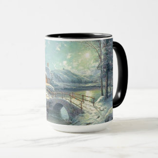 December Winter Scene Happy Holidays Mug
