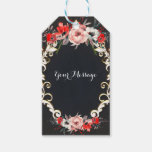 December Winter Wedding Holly Berry Floral Favor Gift Tags