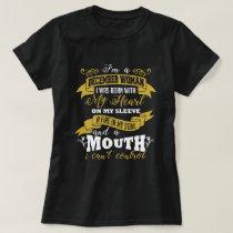 December Woman Birthday Black T-shirt