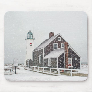 Decemher at Scituate Light Mouse Pad