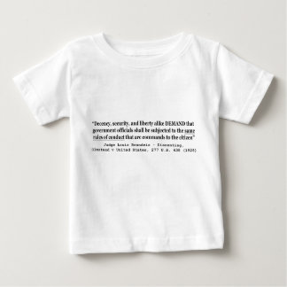 Decency Security and Liberty Judge Louis Brandeis Baby T-Shirt