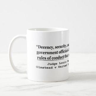 Decency Security and Liberty Judge Louis Brandeis Coffee Mug