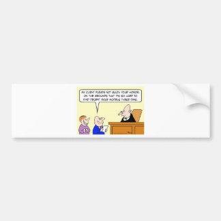 decent role models judge trial bumper sticker