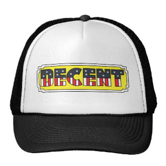 DECENT TRUCKER HAT