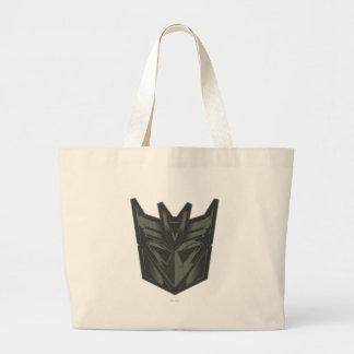 Decepticon agrietó símbolo bolsa tela grande