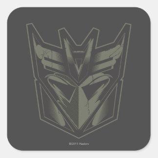Decepticon agrietó símbolo pegatina cuadrada
