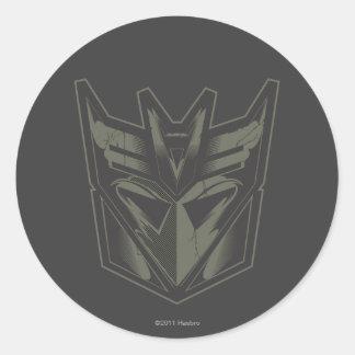 Decepticon agrietó símbolo pegatinas redondas