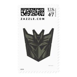 Decepticon agrietó símbolo timbre postal