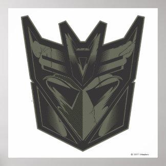 Decepticon Cracked Symbol Poster