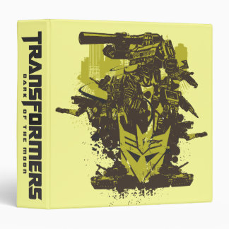 Decepticon Grunge Collage 3 Ring Binder