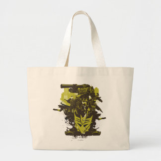 Decepticon Grunge Collage Large Tote Bag