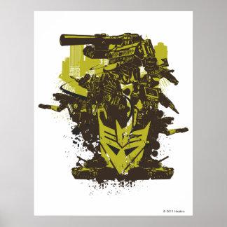 Decepticon Grunge Collage Poster