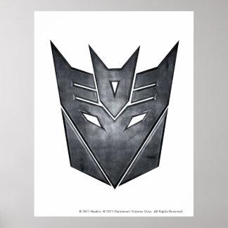 Decepticon Shield Metal Poster