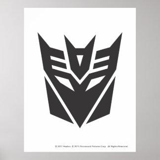 Decepticon Shield Solid Poster