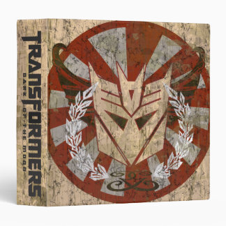 Decepticon Tribal Badge 3 Ring Binder