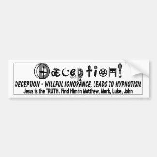 DECEPTION 2 BUMPER STICKER
