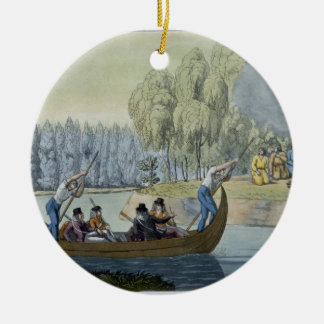 Deception of Captain Wallis by Queen Oberea, plate Ceramic Ornament
