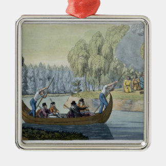 Deception of Captain Wallis by Queen Oberea, plate Metal Ornament