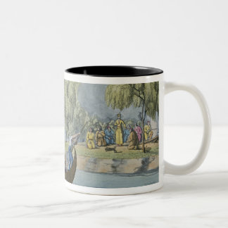 Deception of Captain Wallis by Queen Oberea, plate Coffee Mug
