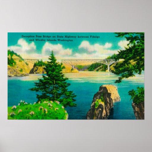 Deception Pass Bridge, Fidalgo and Whidby Island Print
