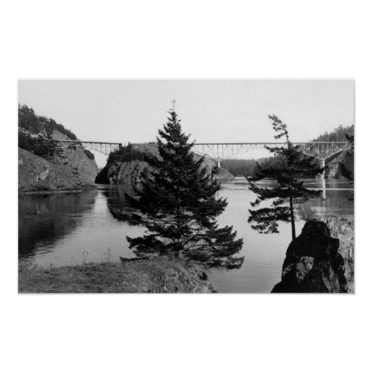Deception Pass Bridge, Washington View Photograp 2 Poster