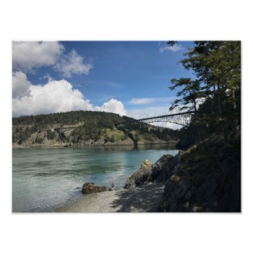 Beach Themed Deception Pass Poster