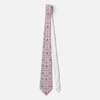 Dechado cruzado de la puntada del navidad corbatas personalizadas