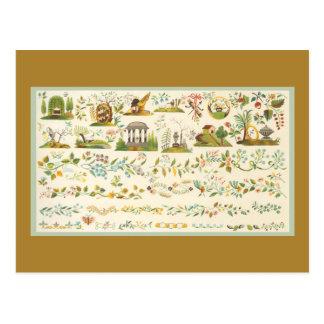 Dechado del arte popular tarjeta postal
