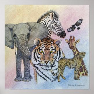 Dechado del safari posters