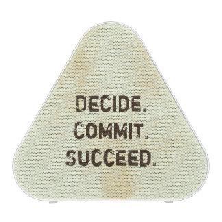 Decida. Confíe. Tenga éxito. El decir de Altavoz Bluetooth