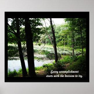 Decida intentar la foto de la corriente del bosque impresiones