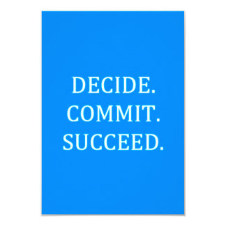 DECIDE COMMIT SUCCEED MOTIVATIONAL SAYINGS MOTTOS CARD