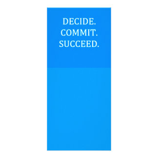 DECIDE COMMIT SUCCEED MOTIVATIONAL SAYINGS MOTTOS RACK CARD