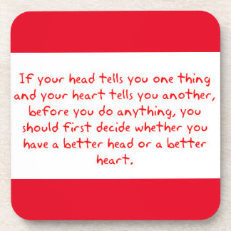 DECIDE IF YOUR HEART OR HEAD IS SMARTER BEFORE DOI COASTERS
