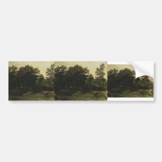 Deciduous Forest by Ivan Shishkin Car Bumper Sticker