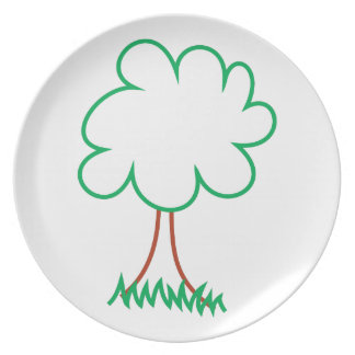 Deciduous Tree Party Plate