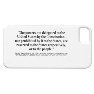Décima enmienda a la constitución de Estados iPhone 5 Carcasa