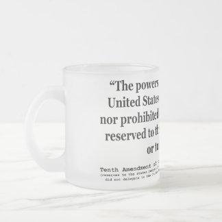 Décima enmienda a la constitución de Estados Unido Tazas