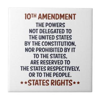 Décima enmienda azulejo cuadrado pequeño