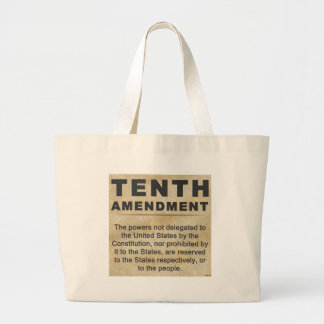 Décima enmienda bolsa lienzo