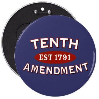 Décima enmienda Est 1791 Pin Redondo 15 Cm