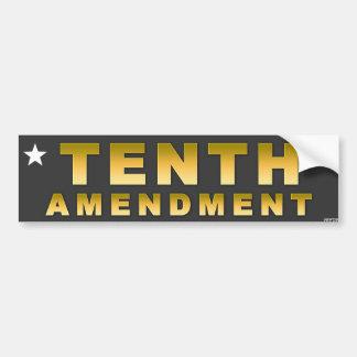 Décima enmienda pegatina para auto
