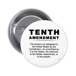 Décima enmienda pin redondo de 2 pulgadas